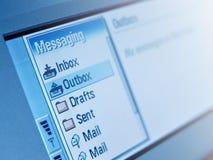 Área de la mensajería Imágenes de archivo libres de regalías