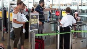?rea de la salida del aeropuerto almacen de metraje de vídeo