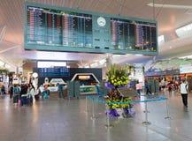 Área de la salida del aeropuerto de KLIA 2, Kuala Lumpur, Malasia Fotografía de archivo
