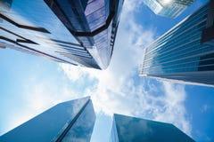 Área de negócio dos arranha-céus da construção Fotografia de Stock Royalty Free
