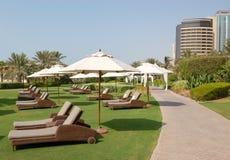 Área de recreação do hotel dos luxurios Imagem de Stock