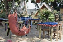 Área de recreação para os turistas europeus em uma costa do oceano Fotografia de Stock Royalty Free
