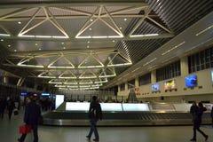 Área do aeroporto da reivindicação de bagagem Fotografia de Stock