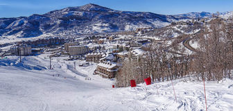 Área do esqui de Steamboat Springs Foto de Stock