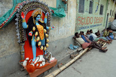 Área do precário de Kolkata Foto de Stock Royalty Free