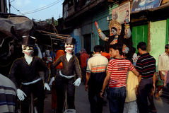 Área do precário de Kolkata Fotos de Stock
