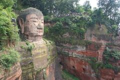 ?rea esc?nica del Monte Emei, incluyendo el ?rea esc?nica magn?fica de Leshan Buda imagen de archivo libre de regalías