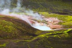 Área geotérmica Landmannalaugar Imagens de Stock Royalty Free