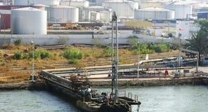 Área industrial na costa de Tunísia Imagens de Stock