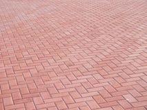 Área pavimentada rojo Imagen de archivo libre de regalías