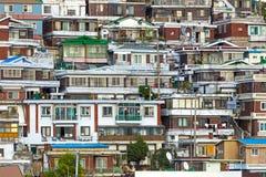 Área residencial en Seul Foto de archivo libre de regalías