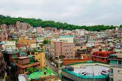 Área residencial en Seul Foto de archivo