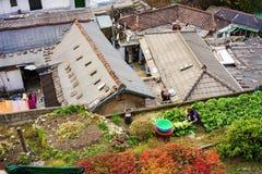 Área residencial en Seul Fotografía de archivo
