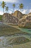 Área tropical de la playa   Fotografía de archivo