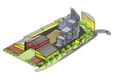 Área urbana do desenvolvimento no vetor Fotografia de Stock Royalty Free