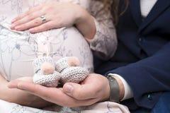 Reabastecimento previsto desejado na família - o nascimento do chil Fotografia de Stock