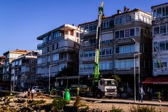 Reabilitação urbana na região de Marmara de Turquia Imagem de Stock