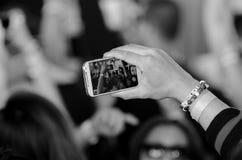 Reacción de Smartphone Fotografía de archivo libre de regalías