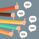 Reacción, gustos y aversiones de los hombres de negocios Ejemplo plano libre illustration