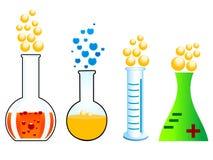 Reacción química Imagen de archivo libre de regalías