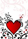 Within Reach. Illustration of hearts and floral designs Stock Photos