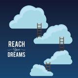 Reach digital design. Stock Photography