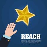 Reach digital design. Stock Photos