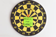 Reach the goals Royalty Free Stock Photography
