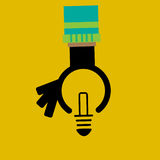 Reach an idea concept Royalty Free Stock Photo
