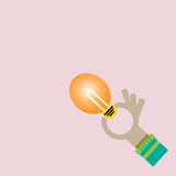 Reach an idea concept Stock Photos