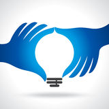 Reach idea with human hand Royalty Free Stock Image