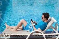 Reach man in luxury hotel Stock Photos