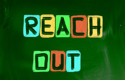 Reach Out Concept Royalty Free Stock Images