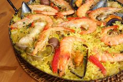 Reach paella royalty free stock images