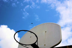 Reach for the sky. Sports inspirational stock photography
