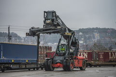 Reach stacker Stock Photos
