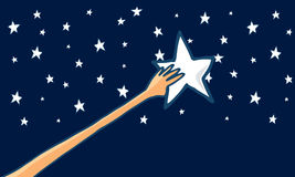 Reach for the stars or success - Horizontal Royalty Free Stock Photography