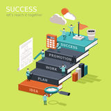 Reach success concep flat 3d isometric infographic Stock Photography