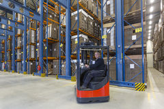 Reach Truck driver Royalty Free Stock Images