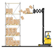 Reach truck Royalty Free Stock Photography