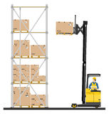 Reach truck Stock Photography