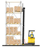 Reach truck Royalty Free Stock Image