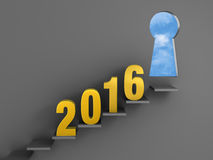 Reach Your Goal in 2016 Stock Image