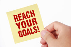 Reach your goals Royalty Free Stock Images