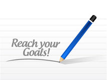 Reach your goals message illustration design Stock Images