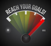 Reach your goals speedometer illustration Stock Photography