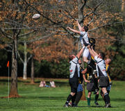 Reaching for the Ball Royalty Free Stock Photography