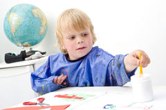 Reaching boy Stock Photography