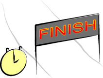 Reaching finish line Royalty Free Stock Image