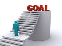 Reaching the goal Stock Images